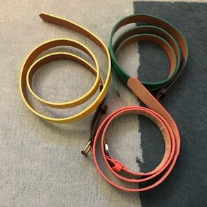 3 Madewell/Loft Neon Colors Belts (WMN M/L)